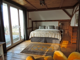 1.Schlafzimmer mit Balkon & Seeblick.